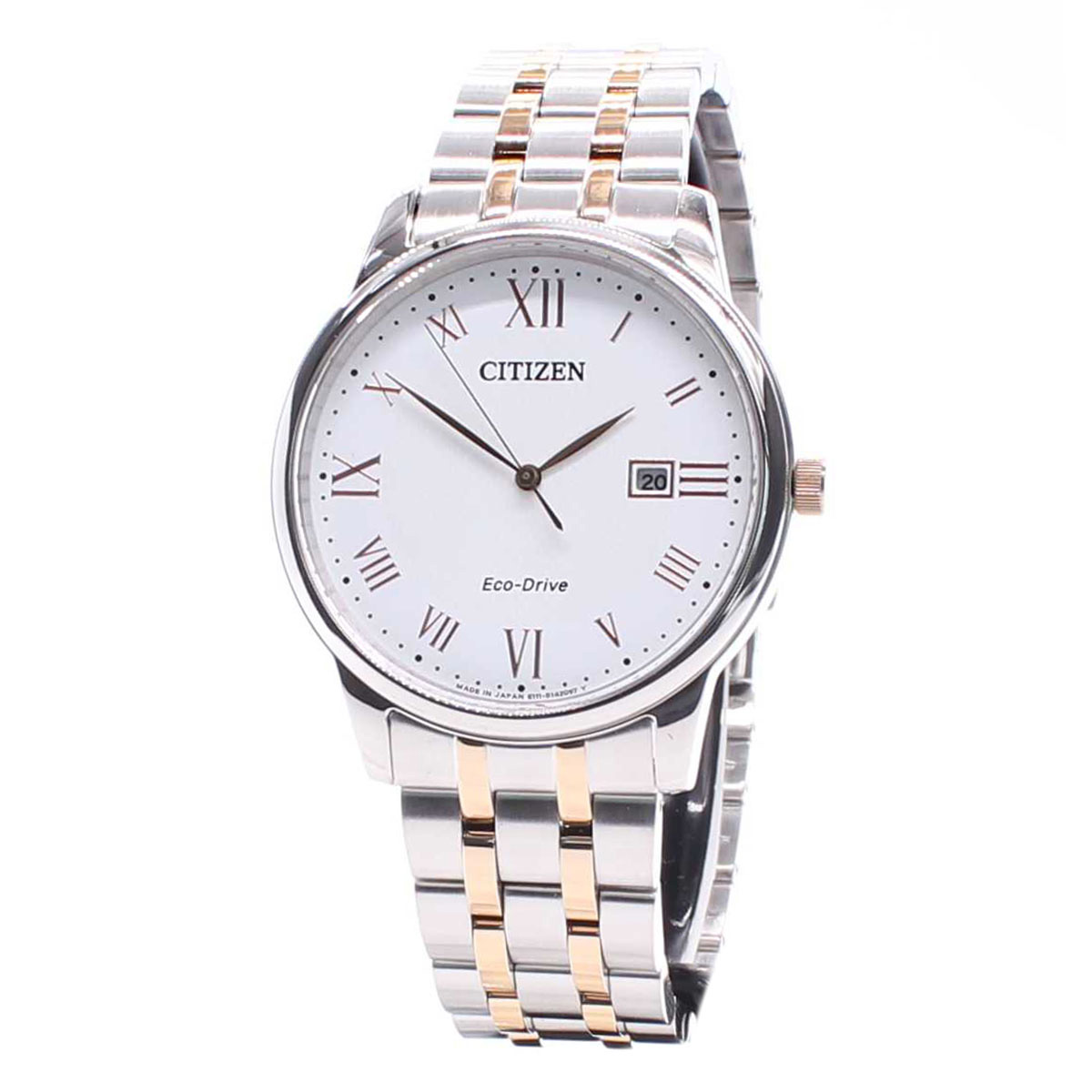 Citizen-ECO-DRIVE-Mens-Analog-Watch-Casual-Silver-Band-BM6970-52A
